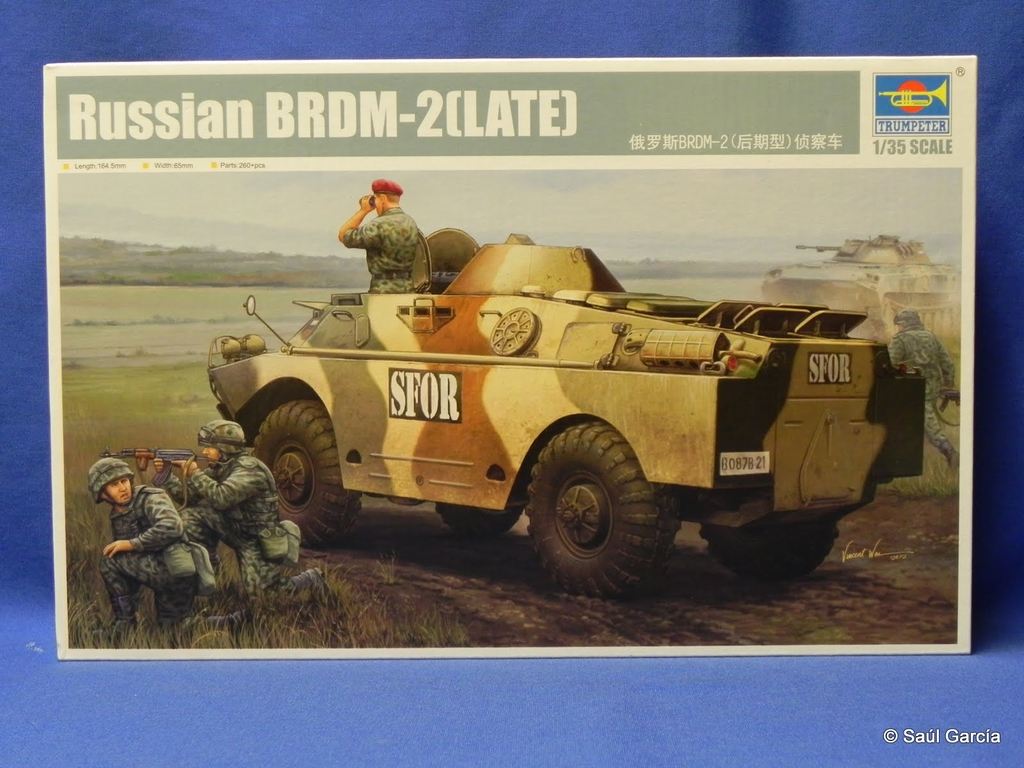 Box Art showing a Bulgarian BRDM-2 in SFOR service.  Note the BMP-23 (2S1 variant) in the background.